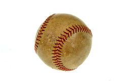 Bola vieja del béisbol fotos de archivo libres de regalías