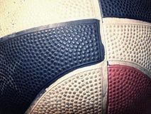 Bola vieja del baloncesto Fotografía de archivo