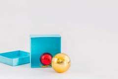 Bola y cajas Foto de archivo libre de regalías