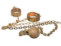 Bola y encadenamiento Imagen de archivo libre de regalías