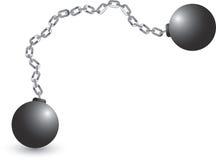 Bola y encadenamiento stock de ilustración