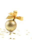 Bola y estrellas de la Navidad Imagen de archivo