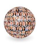 Bola y gente Imagen de archivo libre de regalías