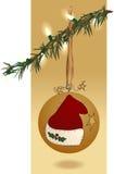 Bola y luces de la Navidad del arte popular Fotografía de archivo libre de regalías