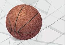 Bola y vidrio del baloncesto ilustración del vector
