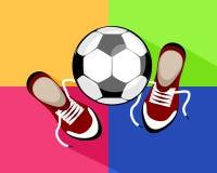 Bola y zapatillas de deporte Fotos de archivo