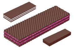 Bolacha do chocolate do cacau imagem de stock