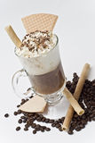 Bolachas com café e feijões. Foto de Stock