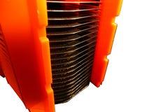 Bolachas do silicone em um portador Foto de Stock