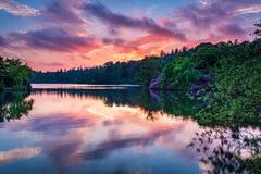 Bolam湖国家公园在微明下 免版税库存图片