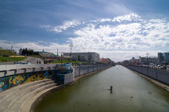 Bolaq channel - duct in Kazan, Republic of Tatarstan, Russia. Royalty Free Stock Photos