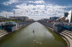 Bolaq channel - duct in Kazan, Republic of Tatarstan, Russia. Royalty Free Stock Photography