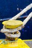 Bolardo amarillo Imágenes de archivo libres de regalías