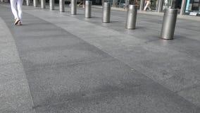 Bolardos en New York City almacen de video