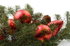Bolas 7 de Navidad Foto de archivo