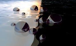 Bolas abstractas blancos y negros foto de archivo libre de regalías