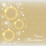 Bolas abstractas de la Navidad Imagenes de archivo
