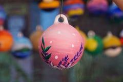 Bolas acrílicas belamente pintadas foto de stock royalty free