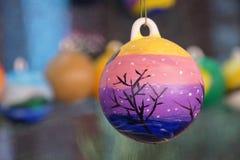 Bolas acrílicas belamente pintadas foto de stock