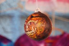 Bolas acrílicas belamente pintadas fotografia de stock