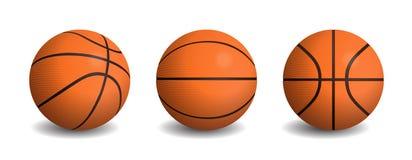 Bolas aisladas realistas del baloncesto del vector libre illustration