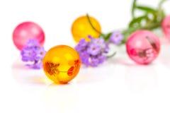 Bolas aromáticas del baño Fotografía de archivo libre de regalías