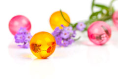 Bolas aromáticas do banho Fotografia de Stock Royalty Free