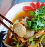 Bolas asiáticas da carne de porco Fotos de Stock Royalty Free