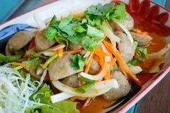 Bolas asiáticas da carne de porco Imagem de Stock Royalty Free