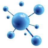 Bolas azuis com reflexão ilustração stock