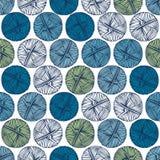 Bolas azuis e verdes do fio em um fundo claro Fotografia de Stock Royalty Free