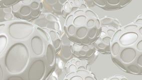 Bolas blancas abstractas libre illustration