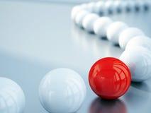 Bolas blancas y rojas fotos de archivo