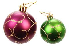 Bolas bonitas do Natal Fotos de Stock Royalty Free