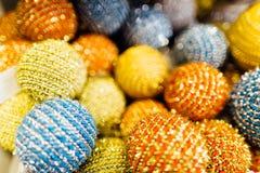 Bolas borrosas de la Navidad Imagen de archivo