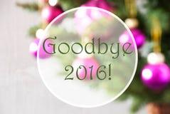 Bolas borrosas, Rose Quartz, texto adiós 2016 Imagen de archivo libre de regalías