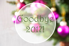Bolas borrosas, Rose Quartz, texto adiós 2017 Imagen de archivo