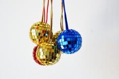 Bolas brilhantes do disco para o Natal Fotos de Stock