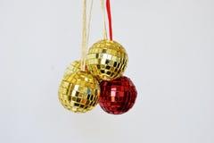 Bolas brilhantes do disco para o Natal Fotografia de Stock