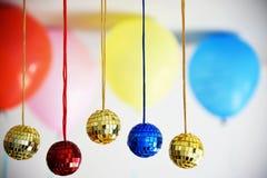 Bolas brilhantes do disco para o Natal Imagem de Stock