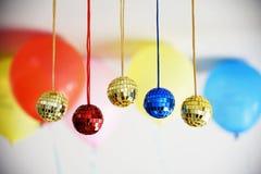 Bolas brilhantes do disco para o Natal Imagens de Stock Royalty Free