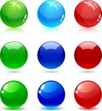 Bolas brillantes. ilustración del vector