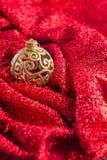 Bolas brillantes de oro para el fondo de Navidad Fotografía de archivo