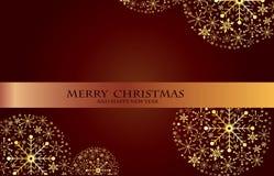 Bolas brillantes decorativas hermosas de Navidad Foto de archivo libre de regalías