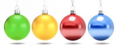 Bolas clásicas de la Navidad de diversos colores Foto de archivo
