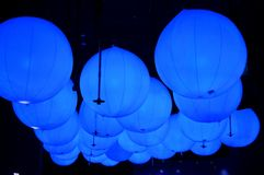 Bolas claras azuis Fotos de Stock Royalty Free