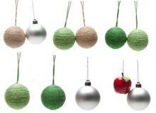 Bolas clasificadas de la Navidad Imagenes de archivo
