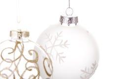 Bolas colgantes de la Navidad Foto de archivo