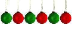 Bolas colgantes de la Navidad Imágenes de archivo libres de regalías