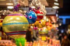 Bolas colgantes de la Navidad Fotos de archivo